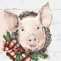 Holiday on the Farm VII on Gray Fine-Art Print