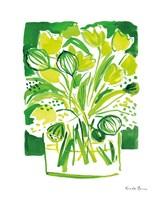 Lemon Green Tulips II Fine-Art Print