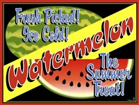 Watermelon Crate Label Fine-Art Print