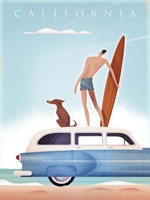 California Surfing Fine-Art Print