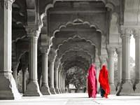 Women in Traditional Dress, India (BW) Fine-Art Print