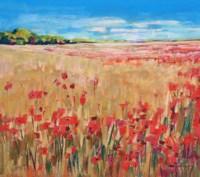 Corn and Poppies III Fine-Art Print