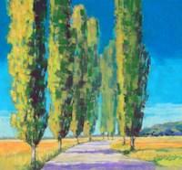 Poplars Normandy II Fine-Art Print