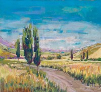 Poplars Country Path Fine-Art Print