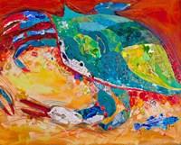 Blue Crab Triptych 3 Fine-Art Print