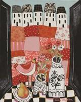 Patchwork Landscape En Rose Fine-Art Print