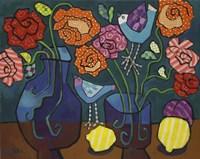 Patterned Roses Fine-Art Print