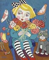 Flower Girl with Friends Fine-Art Print