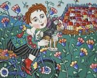 A Boys Flowery Life Fine-Art Print