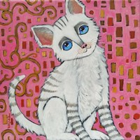 Klimt Kitty Fine-Art Print