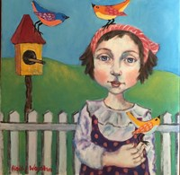 Fille Avec Oiseau Fine-Art Print