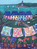 More Cottages and Quilts Fine-Art Print