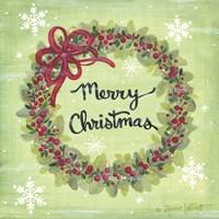 Merry Christmas Wreath Fine-Art Print