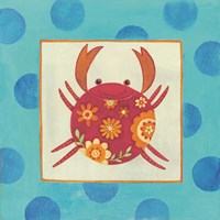 Happy Floral Crab Fine-Art Print