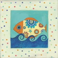 Happy Floral Fish Fine-Art Print
