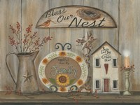 Bless Our Nest Country Shelf Fine-Art Print