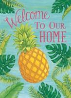 Tropical Leaves & Pineapple Fine-Art Print