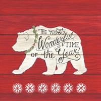 The Most Wonderful Time Bear Fine-Art Print