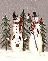 Snowy Day Snowmen Fine-Art Print
