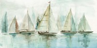 Blue Sailboats I Fine-Art Print
