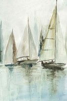 Blue Sailboats III Fine-Art Print