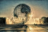Sun Setting Behind Unisphere Fine-Art Print