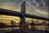 Manhattan Bridge at Sunset Fine-Art Print
