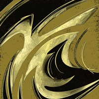 Abstract Black & Gold 2 Fine-Art Print