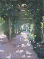 Pergola Violet Pastel Fine-Art Print
