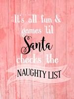 Santa Naughty List Fine-Art Print