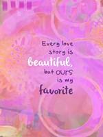Love Story (words) Fine-Art Print
