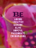 Be Loving and Encouraging (words) Fine-Art Print