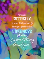 Beautiful Butterfly (words) Fine-Art Print