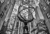 Rockefeller plaza New York Black/White Fine-Art Print