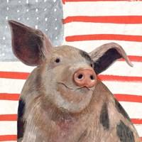 Patriotic Farm IV Fine-Art Print