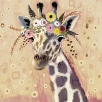 Klimt Giraffe I Framed Print