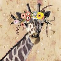 Klimt Giraffe II Framed Print
