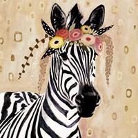 Klimt Zebra I Framed Print