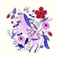 Folk Unicorn II Fine-Art Print