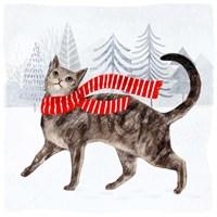 Christmas Cats & Dogs I Fine-Art Print