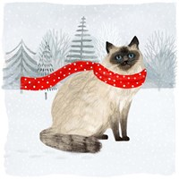 Christmas Cats & Dogs III Fine-Art Print