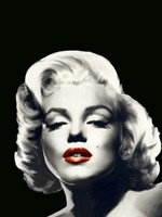 Red Lips Marilyn In Black Fine-Art Print