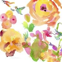 Watercolor Flower Composition VIII Fine-Art Print