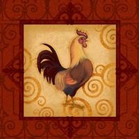 Decorative Rooster I Fine-Art Print