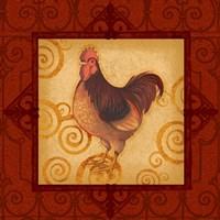 Decorative Rooster III Fine-Art Print