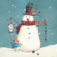 Folk Snowman I Fine-Art Print