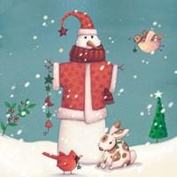 Folk Snowman II Fine-Art Print