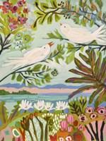 Birds in the Garden I Fine-Art Print