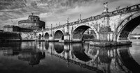 St Angelo Rome Black/White Fine-Art Print