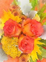 Orange Flowers 2 Fine-Art Print